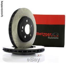2x METZGER Bremsscheibe Scheibenbremse mit Radlager Hinten für Renault Clio 3