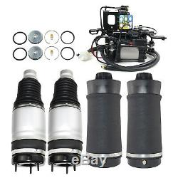 4×Air Suspensions + Compressor with Bracket Fit 2011-2016 Jeep Grand Cherokee WK2