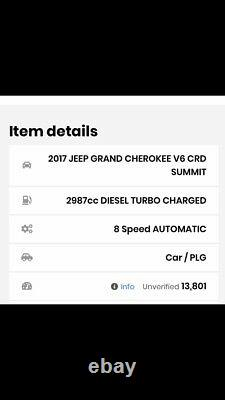 JEEP GRAND CHEROKEE Air suspension LEFT 68258355AB IV WK WK2 3.0 CRD V6 2017