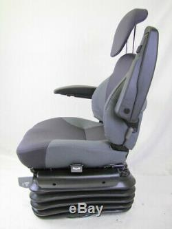 KAB 85/E6 Deluxe Tractor Seat Air Suspension 12V inc Swivel Headrest & Armrests