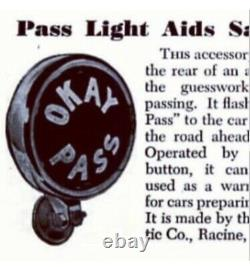 OKAY PASS Teleoptic Sparton Light Lamp Vintage Chevy Pontiac Buick Olds Cad GMC