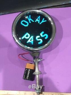 OKAY PASS Teleoptic Sparton VINTAGE ORIGINAL Light Lamp GM Chevrolet Accessory $