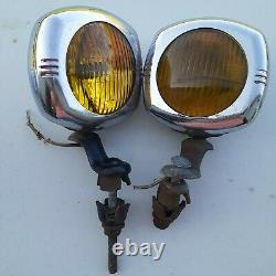 US EAGLE 145 Pioneer Fog Lights Guide Chevy rat rod 1930s 1940s YELLOW
