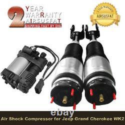 Amortisseurs De Suspension D'air Avant Avec Compresseur D'air Pour Jeep Grand Cherokee 2011-2014