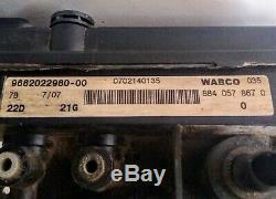 Citroen C4 Picasso Wabco Du Grand Air Suspension Pompe 9682022980