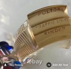 Fulton Traffic Viewer Lumière Honey Bones Ambre Original Vintage Ad Gm Accessoires $