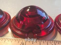 Harley Lens Vintage Original Red Glass Tail Light Lampe Feu Arrière Verre Indien $