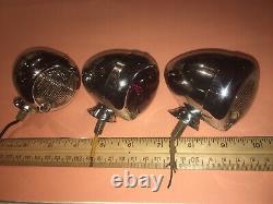 Harley Yankee 120 Effacer Red Light Lot Vintage Bullet Originale Accessoire Vélo Rod
