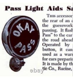 Okay Pass Teleoptic Sparton Lampe Vintage Chevrolet Pontiac Buick Gmc Olds Cad