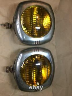 Vintage Us Eagle 145 Pioneer Fog Lights Guide Chevy Rat Rod 1930s 1940s Yellow