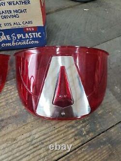 Visière De Phare Lite-visor Vintage Original 1950 Accessoire Harley Chevy Gm Rouge